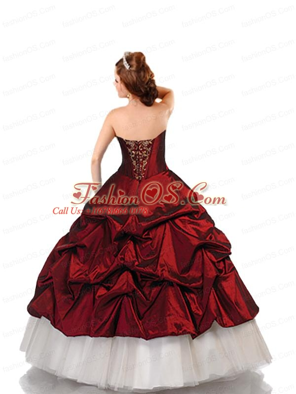 Beautiful Ball Gown Wine Red Quinceanera Dresses with Beading