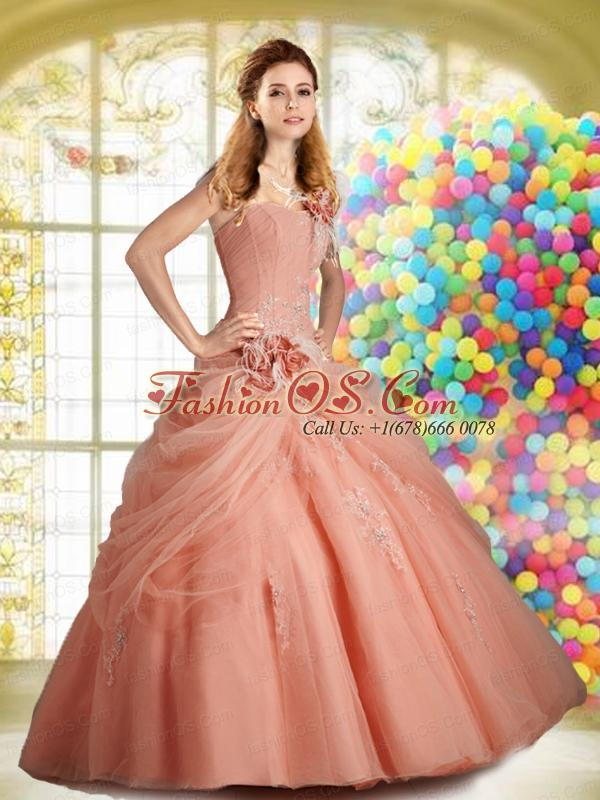 Discount Peach Pink Quinceanera Dresses  Peach Pink