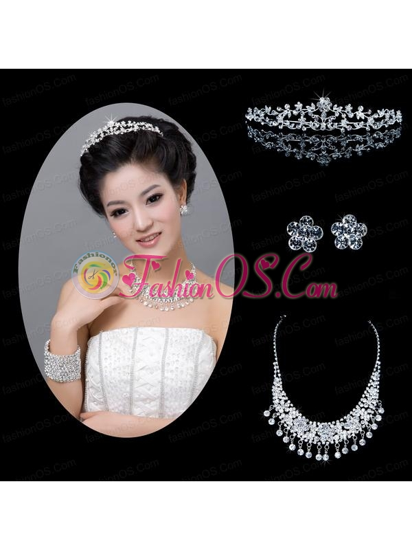 Shimmering Alloy With Rhinestone Ladies' Jewelry Sets
