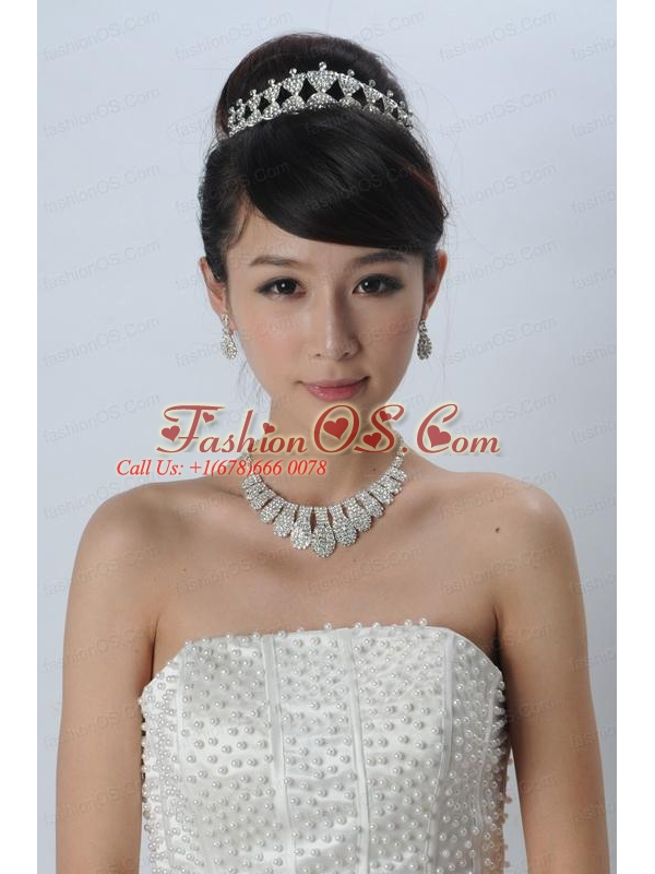 Charming Alloy With Rhinestone Jewelry Sets