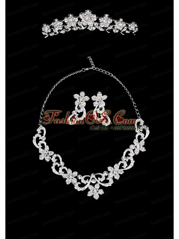 Spring Flowers Alloy/Rhinestones Ladies' Jewelry Sets