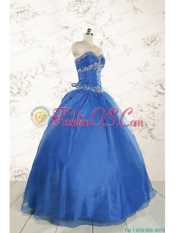 Cheap Beading Quinceanera Dresses in Royal Blue for 2015