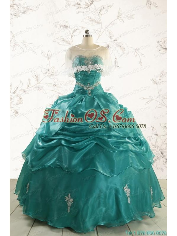 Discount Sweetheart Appliques Quinceanera Dresses for 2015