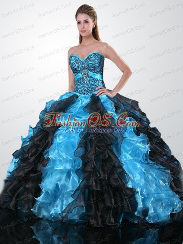 Exclusive Sweetheart Quinceanera Gown with Beading and Ruffles for 2015