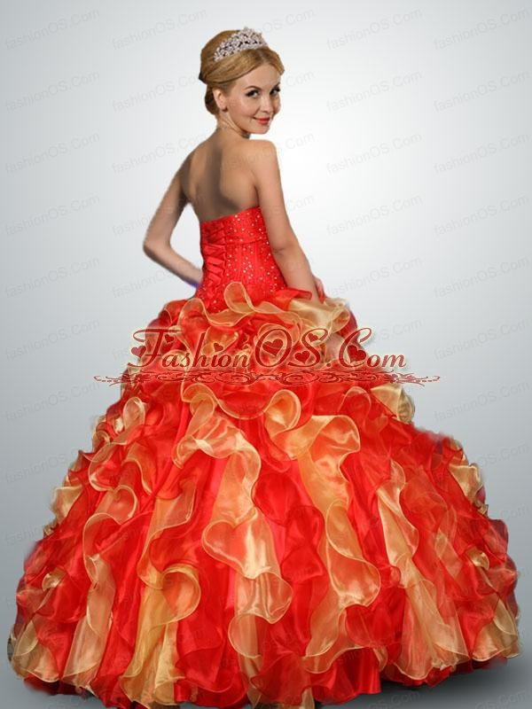 2015 Classical Multi-color Quinceanera Dresses with Appliques and Ruffles