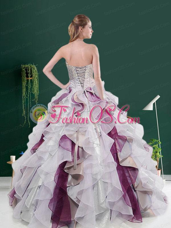 2015 Customize Autumn Multi-color Beading Quinceanera Dresses