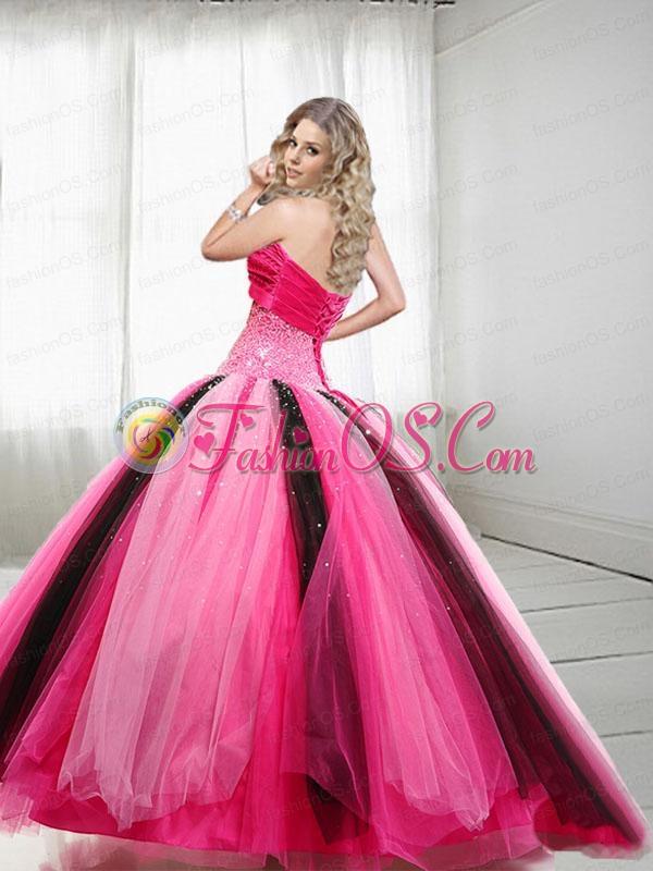 2015 Unique Sweetheart Beading Quinceanera Dresses in Multi-color