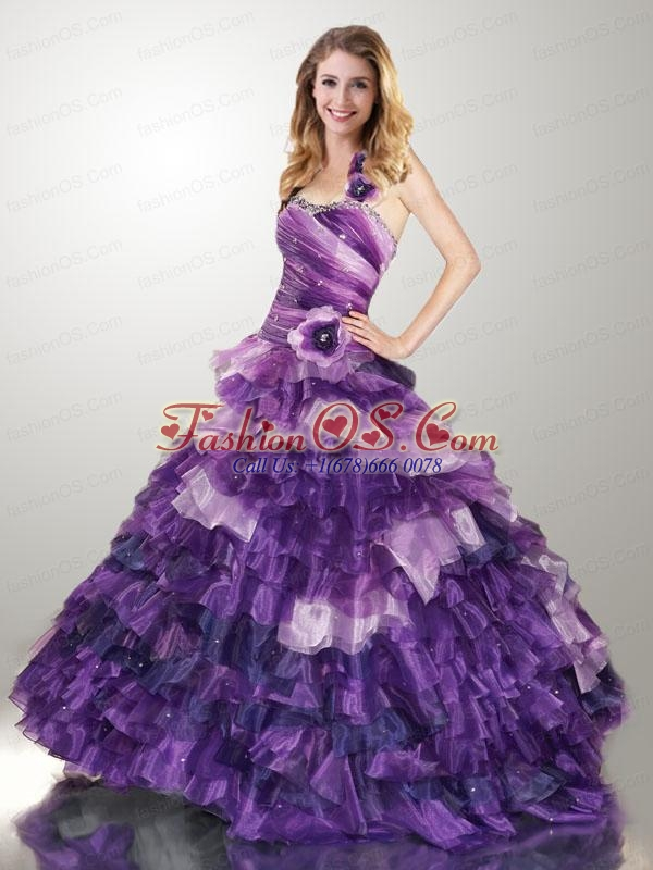 Luxurious Multi-color Dresses For Quinceanera with Beading and Ruffles For 2015
