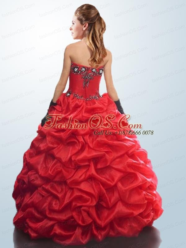 Remarkable Red Quinceanera Dresses with Appliques and Pick Ups