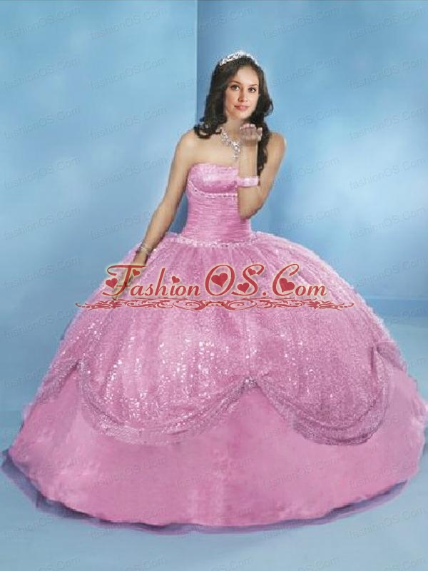 White Sequins and Ruching Quinceanera Dress for Sweet 16 Party