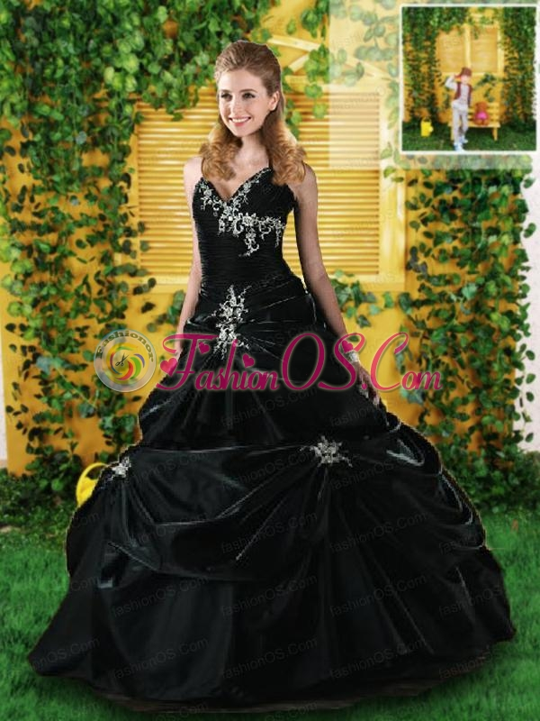 Wonderful Halter Top Quinceanera Dress with Appliques For 2015