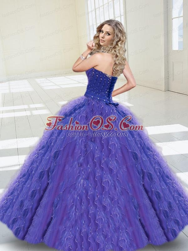 Spring Sweetheart Rose Pink Beading Quinceanera Dress with Ruffles