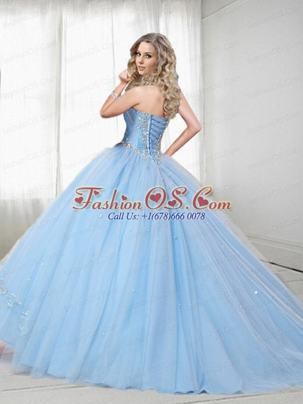 2015 Exquisite Watermelon Quinceanera Dresses with Embroidery and Beading