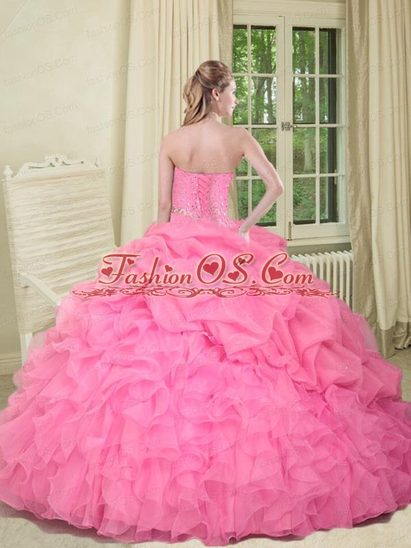Remarkable Sweetheart Yellow Quinceanera Dress with Beading and Ruffles