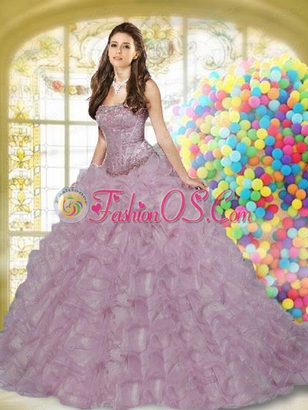 Wonderful Sweetheart Beading and Ruffles Royal Blue Quinceanera Dress