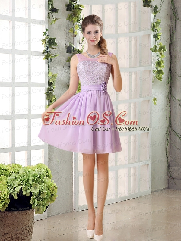Perfect Prom Dresses Ruching with Hand Made Flower in Lilac