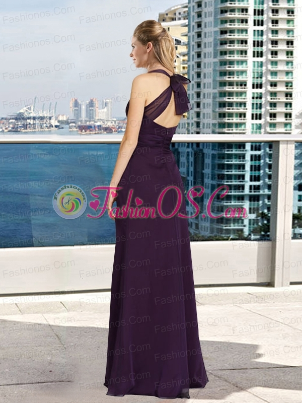 2015 Wonderful Column One Shoulder Prom Dresses with Lace
