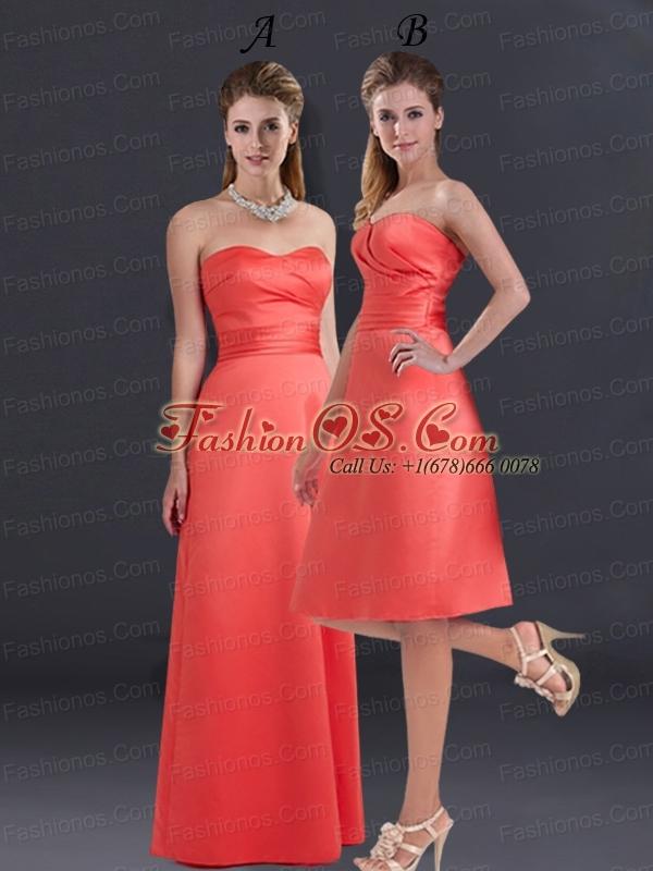 Empire Sweetheart Ruching Knee Length Prom Dresses for 2015