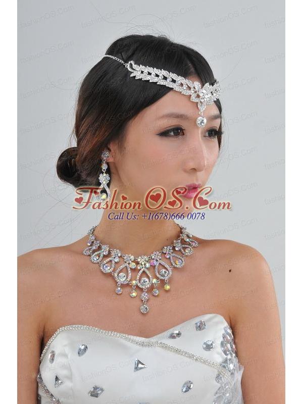 Elegant Colorful Rhinestones Alloy Jewelry Sets