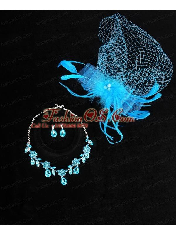 Elegant Rhinestone Wedding Jewelry Set Including Necklace And Earrings