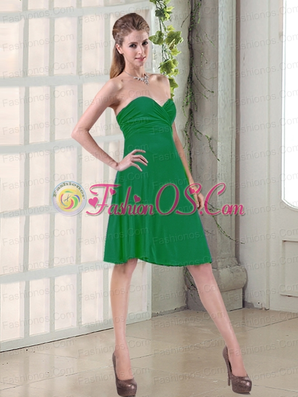 Simple Ruched Bust A Line Short Prom Dresses