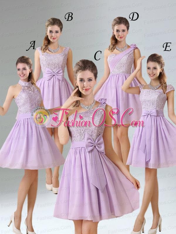 2015 Chiffon Prom Dress with Ruching Bowknot