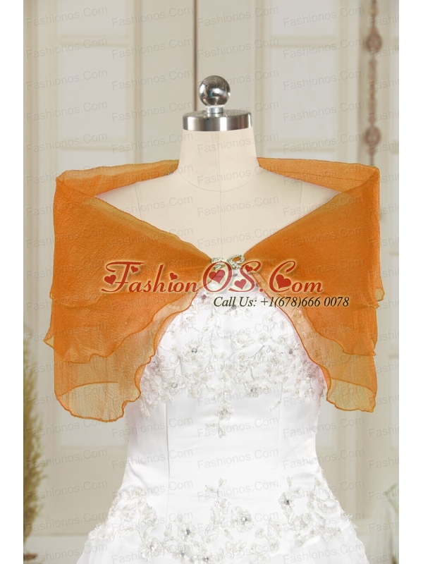 2014 New Style Beading Orange Shawls