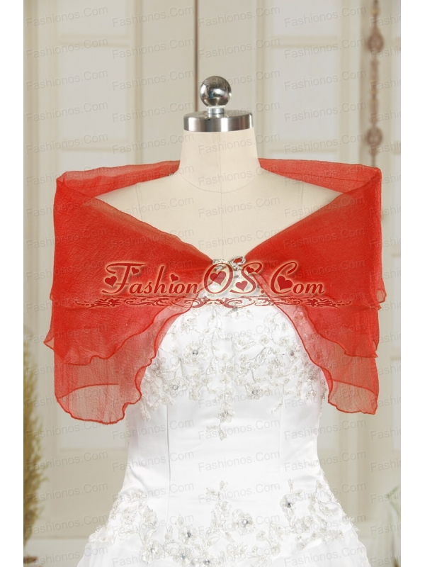 2014 Fall Red New Style Shawls with Beading