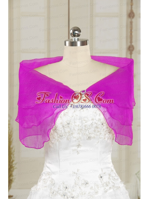 2014 Fashionable Purple Shawls with Beading