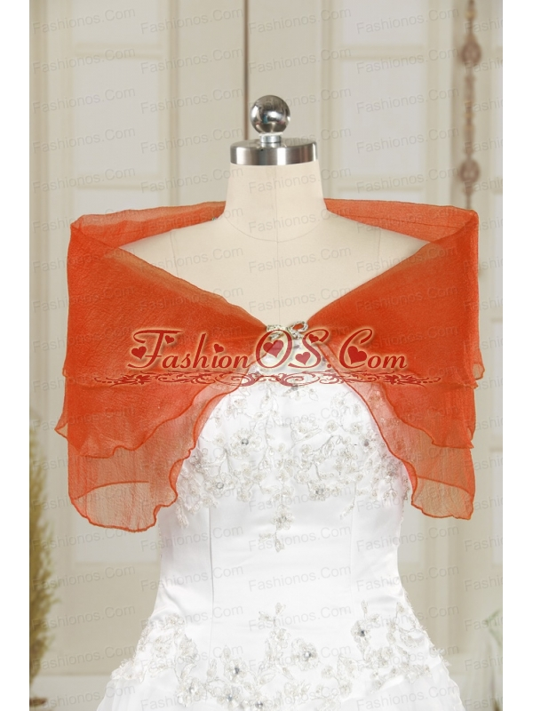 2014 New Style Beading Coral Red Shawls