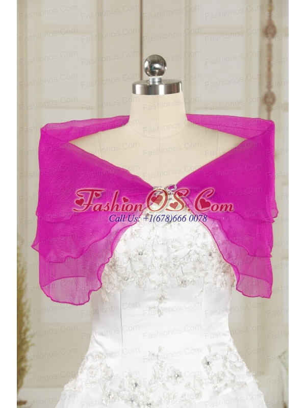 2014 Open Front Beading New Style Shawls in Purple
