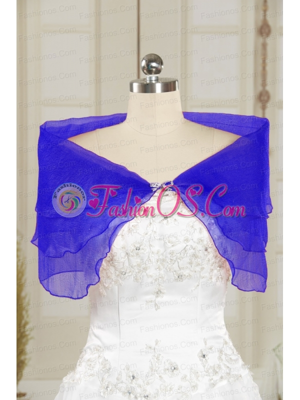 2014 Winter Beautiful Blue Shawls with Beading