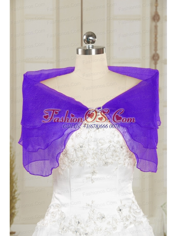 New Style Beading Purple Shawls for 2014