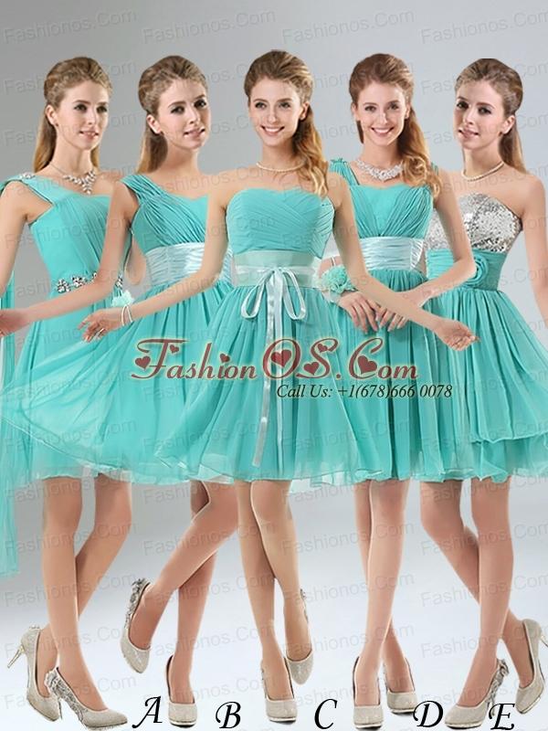 Straps Ruching Sweetheart A Line 2015 Elegant Prom Dress