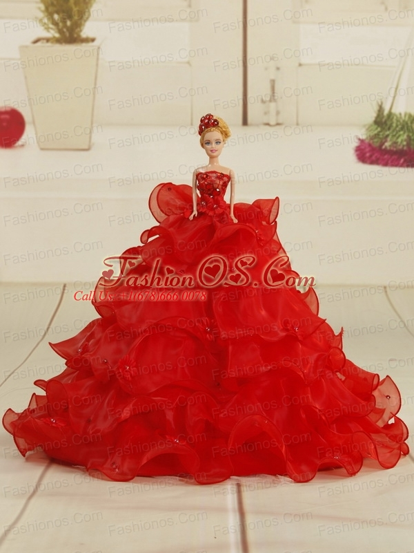 2015 Luxurious Sweetheart Beading Quinceanera Dresses in Watermelon