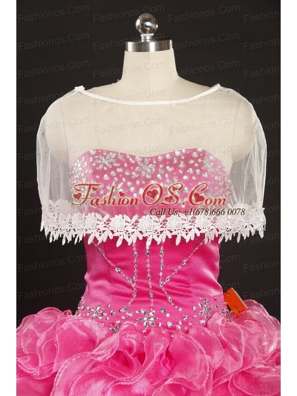 2015 Pretty Sweetheart Organza Appliques Sweet 16 Dresses