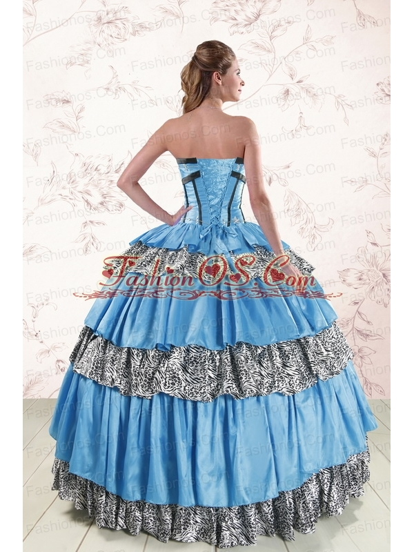 Unique Sweetheart Ball Gown Beading Quinceanera Dresses for 2015