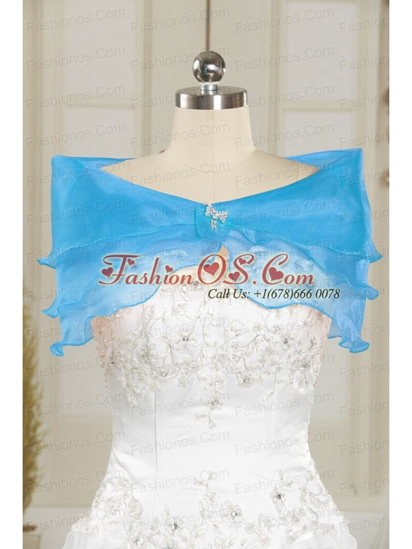 2015 Pretty Baby Blue Sweet 15 Dresses with Beading