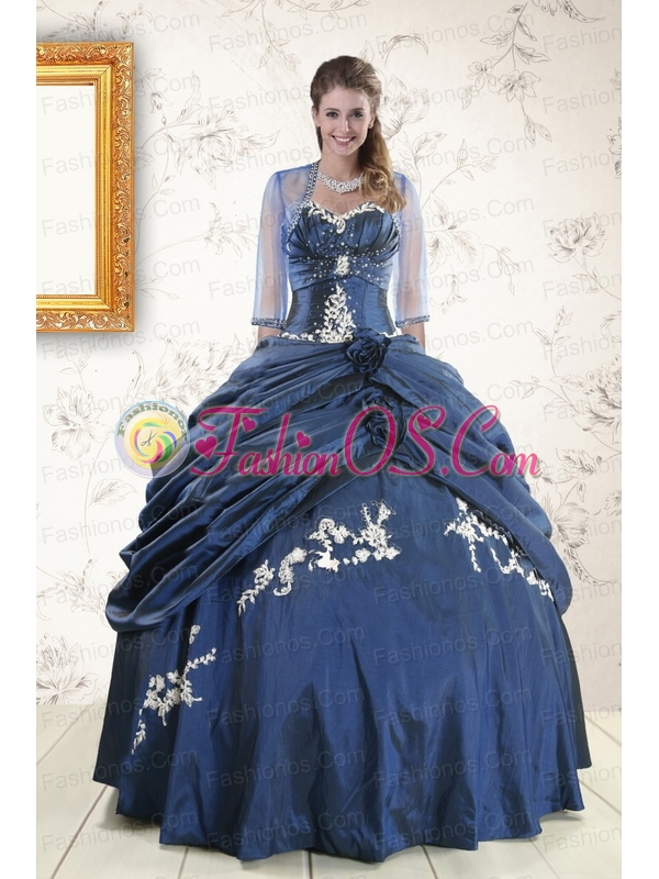 Gorgeous Sweetheart Ball Gown Quinceanera Dresses in Navy Blue