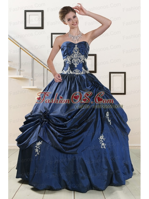 Trendy Sweetheart Quinceanera Gowns with Appliques