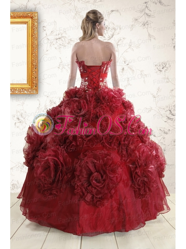 Unique Quinceanera Dresses with Hand Made Flowers for 2015