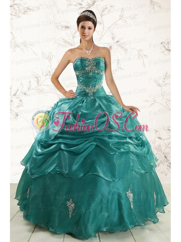 2015 New Style Ball Gown Sweet 16 Dresses with Appliques