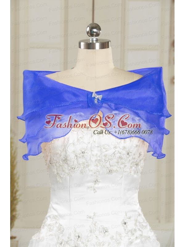 2015 Cheap Appliques Quinceanera Dresses in Royal Blue