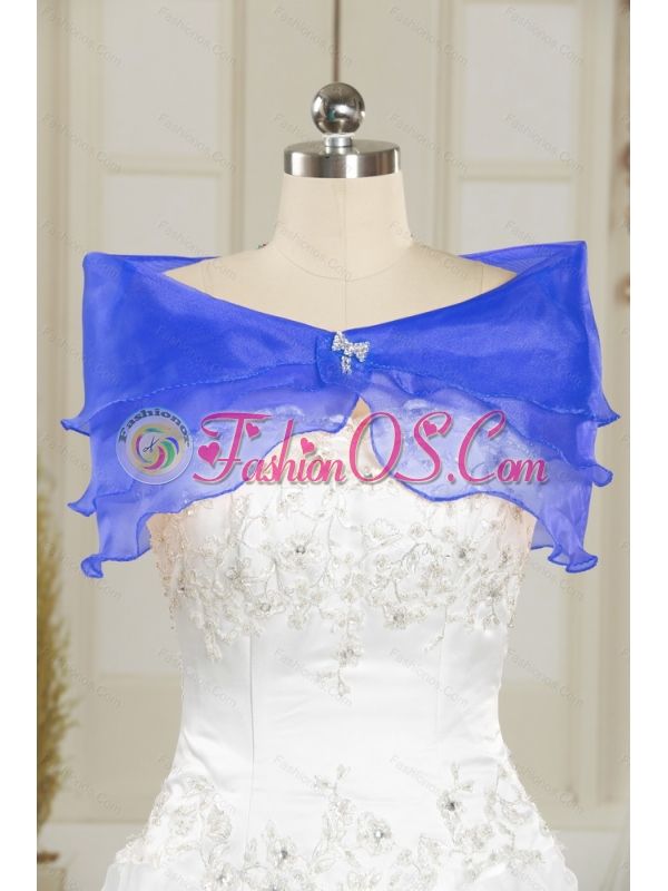 2015 Pretty Beading and Ruffles Quince Dresses in Royal Blue and Teal