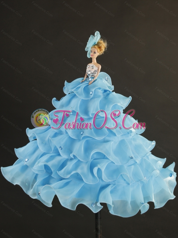 Pretty Beading and Ruffles Royal Blue Sweet 16 Dresses