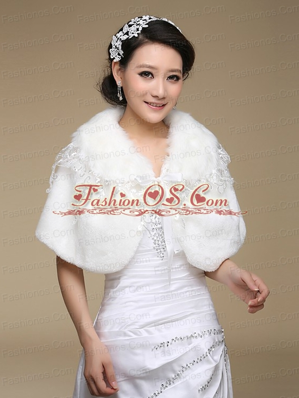 2015 Most Popular Faux Fur White Wraps