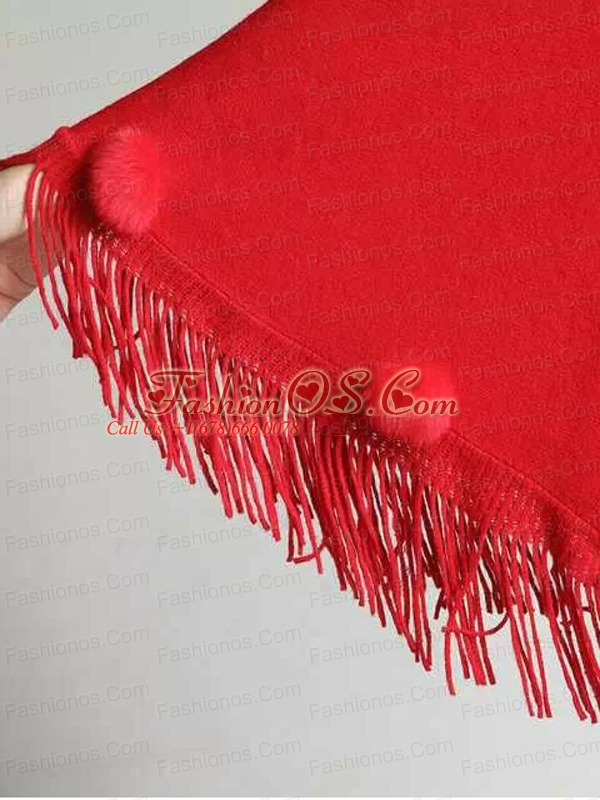 2015 Perfect Red Wraps with Knitted Fabric
