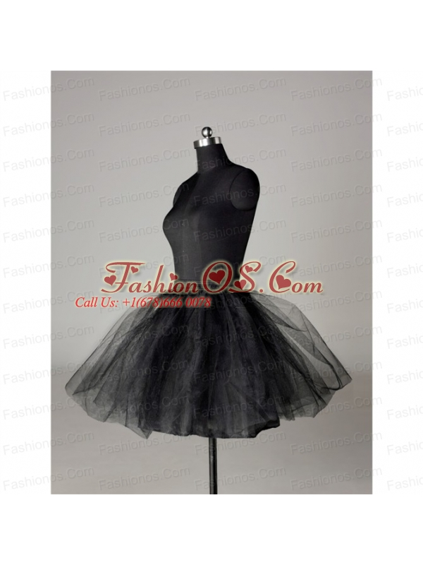 Modern Organza Mini Length Petticoat in Black