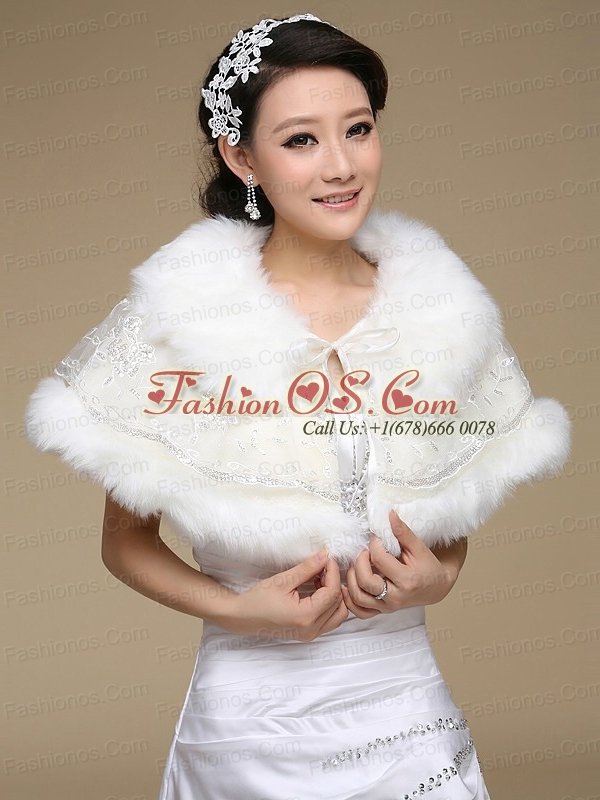Most Popular Faux Fur 2015 Wraps with Lace