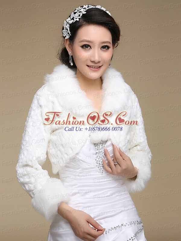 Most Popular Long Sleeves Faux Fur Wraps for 2015